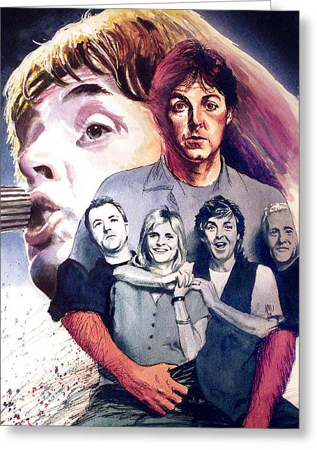 Paul Mccartney And Wings Greeting Card by Ken Meyer