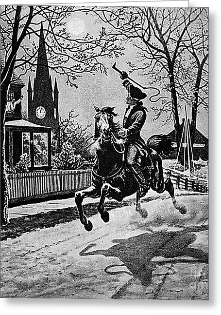 Paul Revere, Midnight Ride, April 18th Greeting Card by Photo Researchers
