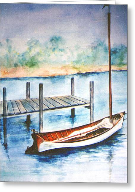 Pea Pod Boat Greeting Card