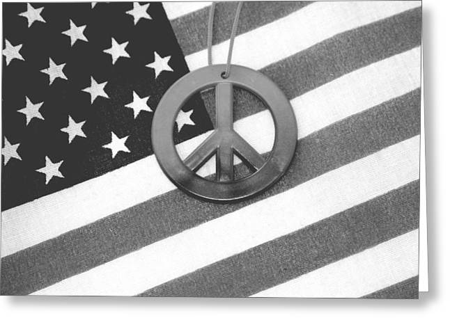 Peace And Patriotism Greeting Card