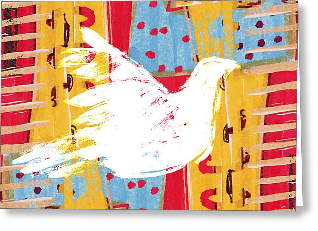 Peace Dove 2 Greeting Card by Carol Leigh