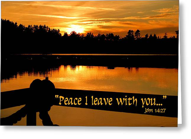 Peace I Leave With You Greeting Card by Cindy Wright