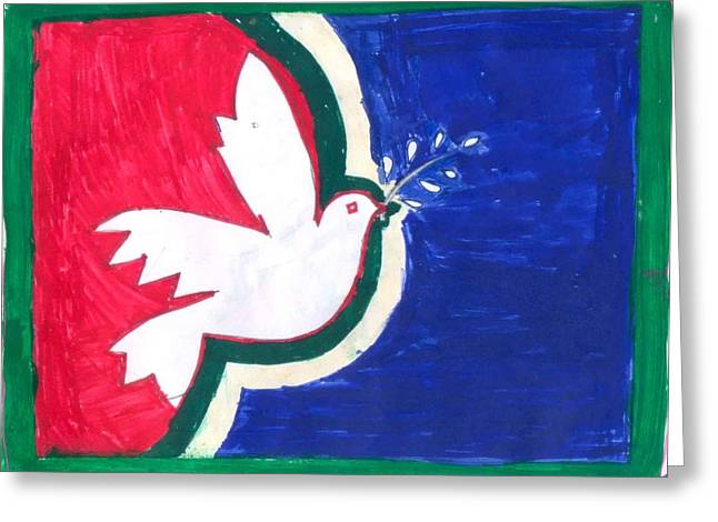 Peace In The Master Piece Greeting Card by Poornima M