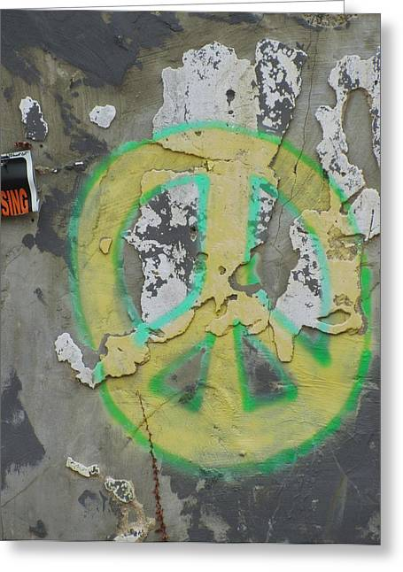Peace No Trespassing Greeting Card by Todd Sherlock