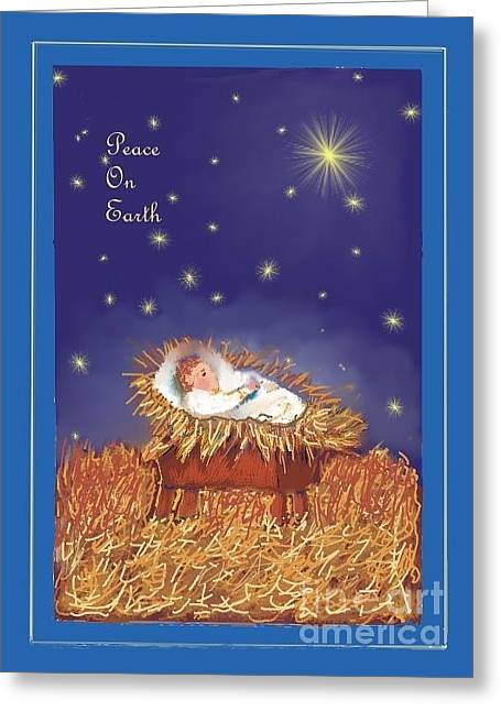 Peace On Earth Greeting Card by Dessie Durham
