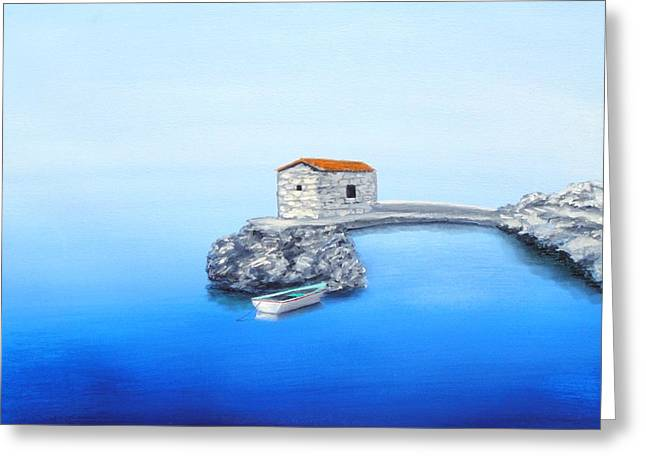 Peaceful Adriatic  Greeting Card by Larry Cirigliano