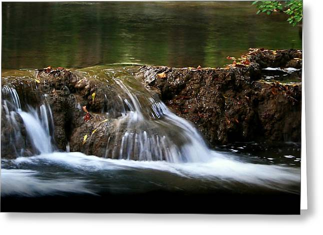 Greeting Card featuring the photograph Peaceful Falls by Karen Harrison