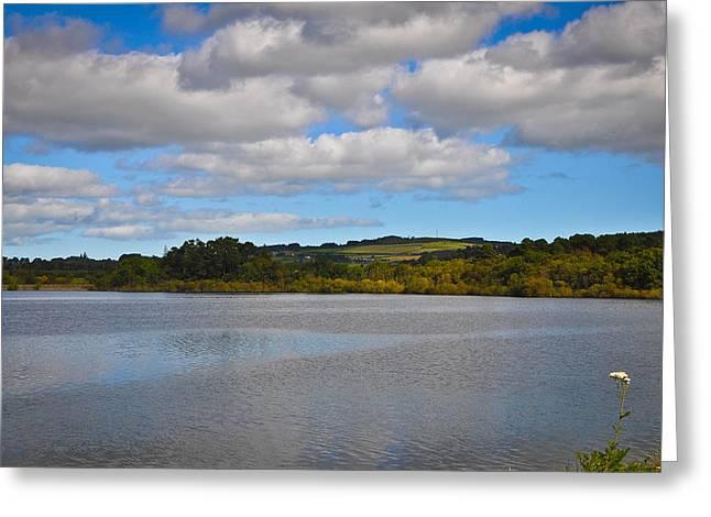 Peaceful Lake Greeting Card by Erica McLellan