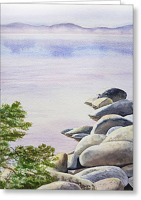 Peaceful Place Morning At The Lake Greeting Card by Irina Sztukowski