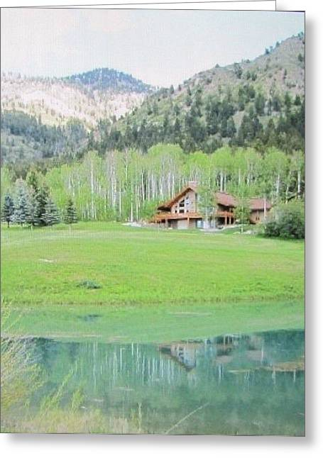 Peaceful Star Valley Wyoming Greeting Card