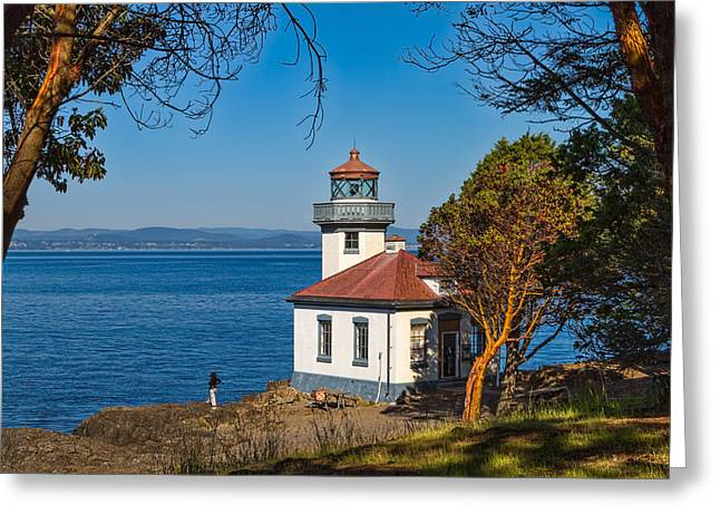 Peaceful Thinking Greeting Card by Ken Stanback