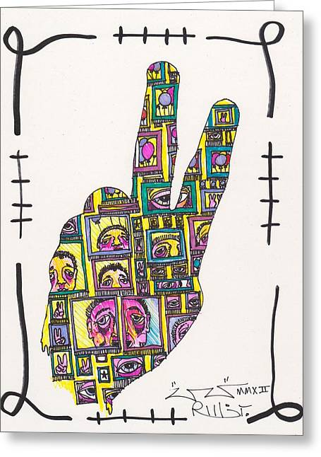 Peace...outside Looking In Greeting Card by Robert Wolverton Jr