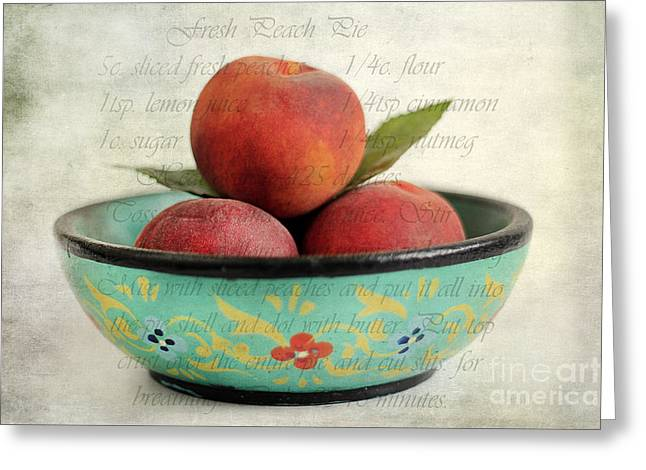 Peach Pie Greeting Card by Darren Fisher