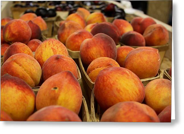 Peaches Ala Mollys Market Greeting Card by Theresa Johnson