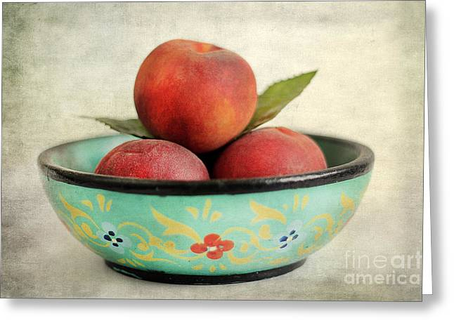 Peaches Greeting Card by Darren Fisher