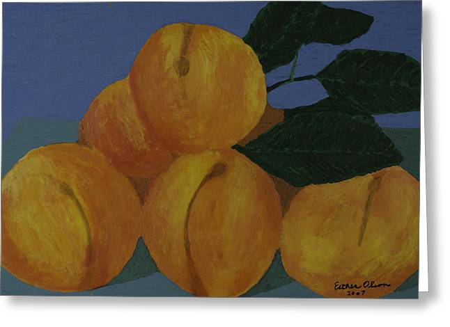 Peaches Greeting Card by Esther Olson
