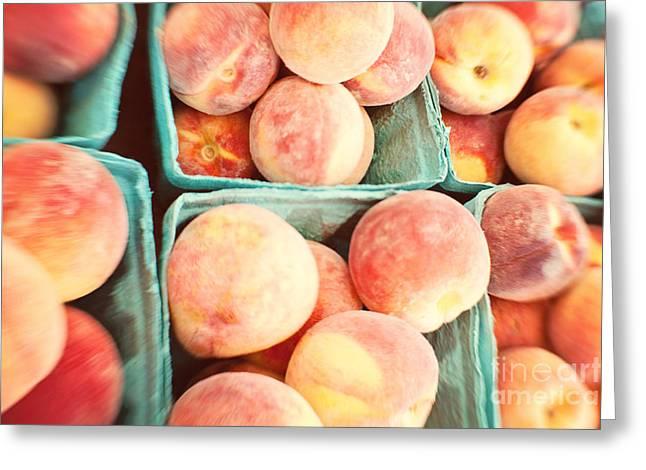 Peaches Greeting Card by Kim Fearheiley