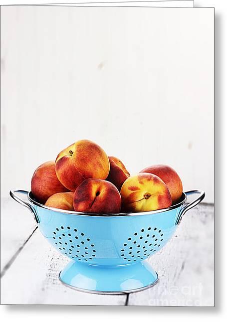 Peaches Greeting Card by Stephanie Frey
