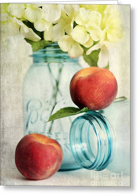 Peachy Greeting Card by Darren Fisher