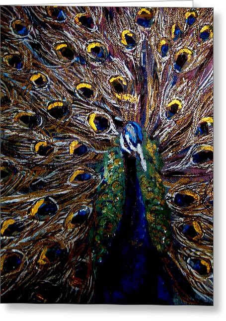 Peacock 1 Greeting Card by Amanda Dinan