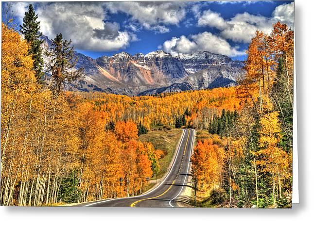 Peak Highway Greeting Card