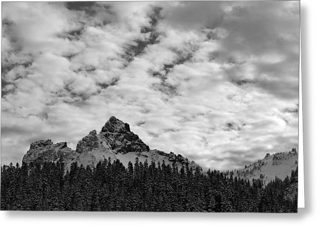 Peaks In The Tatoosh Range Greeting Card by Twenty Two North Photography