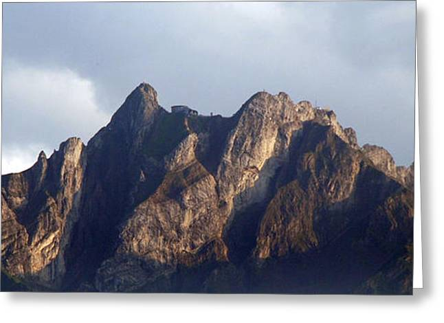 Greeting Card featuring the photograph Peaks by Pravine Chester