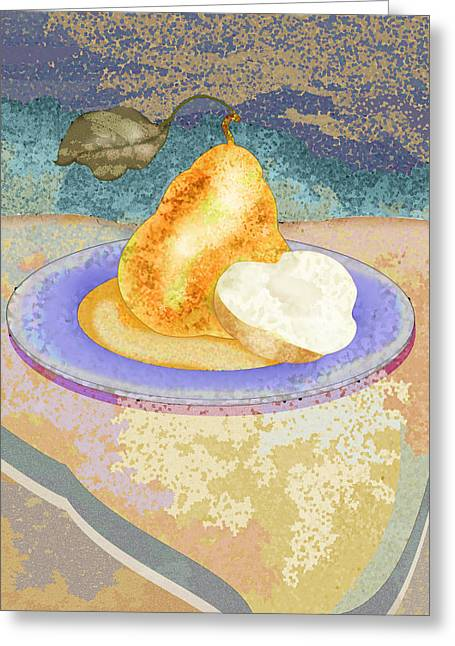 Pear Greeting Card by Mary Ogle
