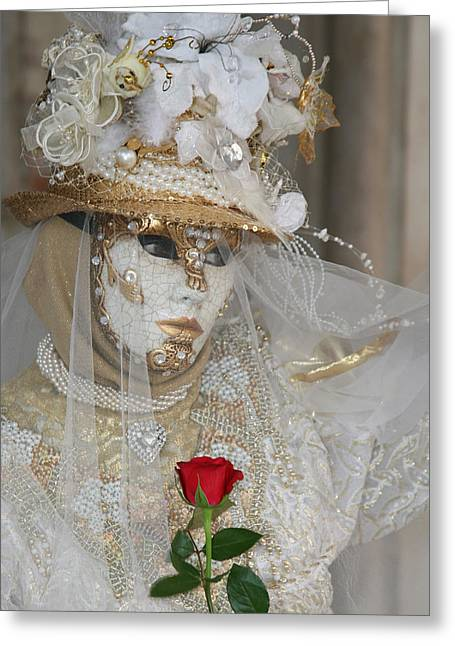 Pearl Bride With Rose 2 Greeting Card