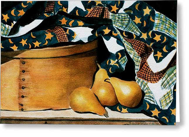 Pears And Stars Greeting Card