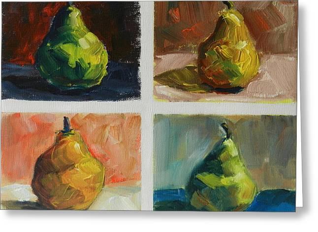 Pears,peru Impression Greeting Card