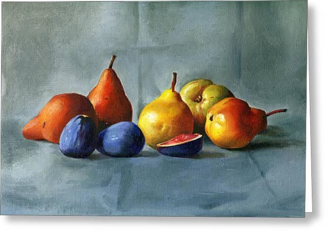 Pears Greeting Card by Tatyana Holodnova