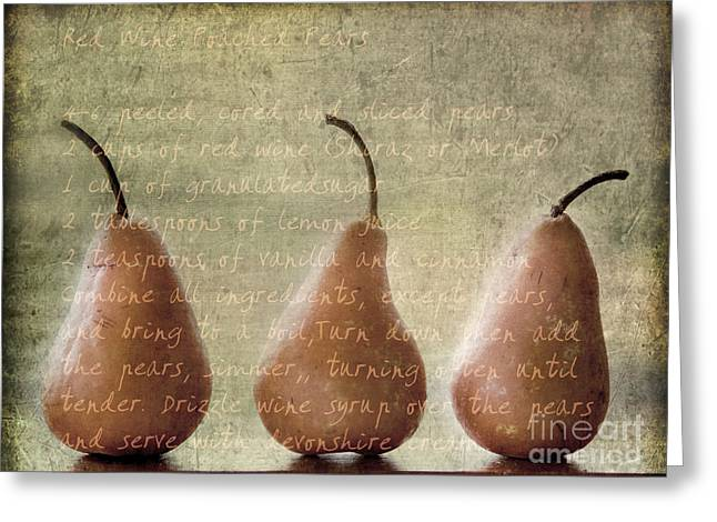 Pears To Be Greeting Card by Linde Townsend