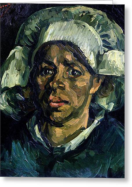 Peasant Woman Greeting Card by Vincent van Gogh