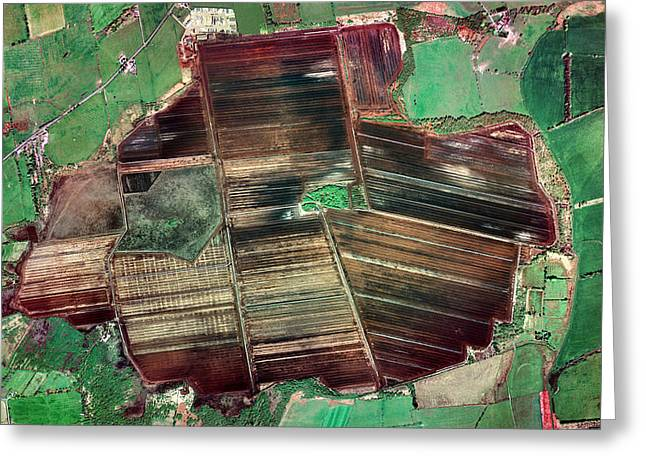 Peat Extraction Greeting Card by Getmapping Plc