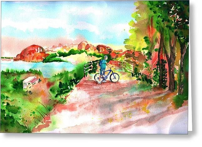 Peavine Trail Prescott Arizona Greeting Card by Sharon Mick