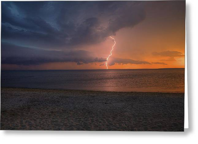 Peconic Bay Lightening Greeting Card
