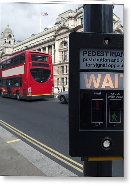 Pedestrian Traffic Controls On The Side Greeting Card