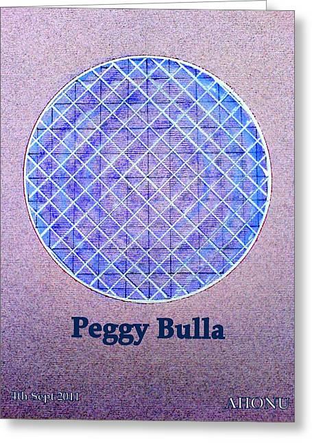 Peggy Bulla Greeting Card by Ahonu