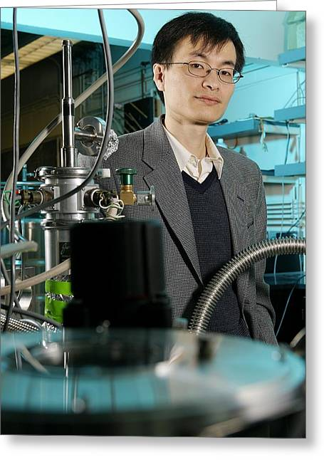 Peidong Yang, Chinese-born Chemist Greeting Card by Volker Steger