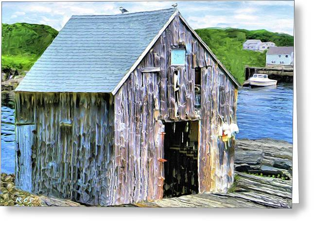 Pemaquid Fish House Greeting Card by Richard Stevens