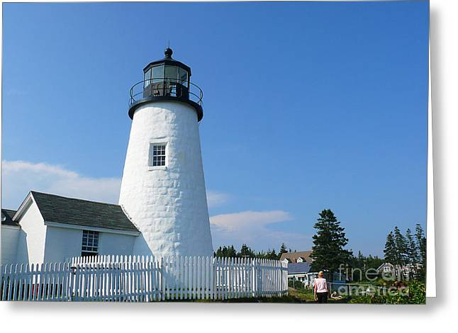 Greeting Card featuring the photograph Pemaquid Lighthouse by Jeanne  Woods