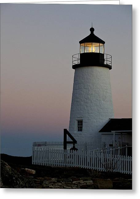 Pemaquid Point Aglow Greeting Card