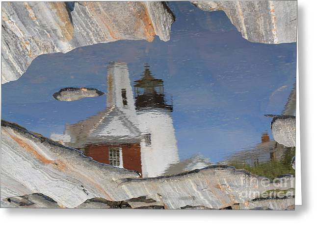 Pemaquid Point Light Greeting Card by John Doble