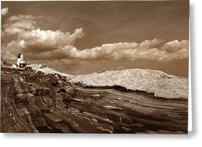 Pemaquid Point Lighthouse Greeting Card by Skip Willits
