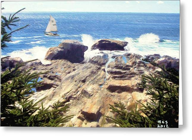Pemaquid Point Greeting Card by Richard Stevens