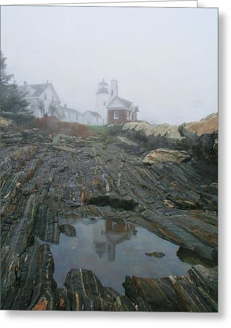 Pemaquid Reflection Greeting Card by Mary Hershberger