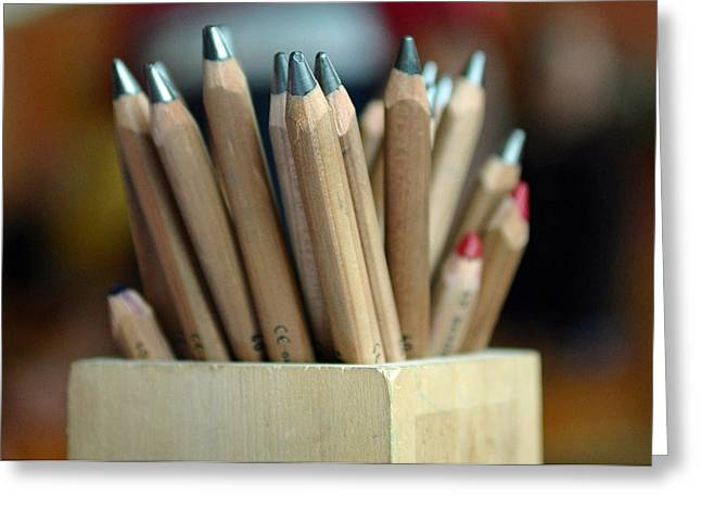 Pencils Greeting Card by Lisa Phillips