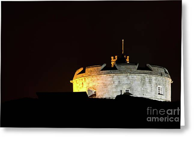 Pendennis Castle Greeting Card by Brian Roscorla