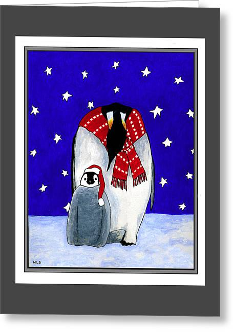 Penguin's First Christmas Greeting Card by Marla Saville